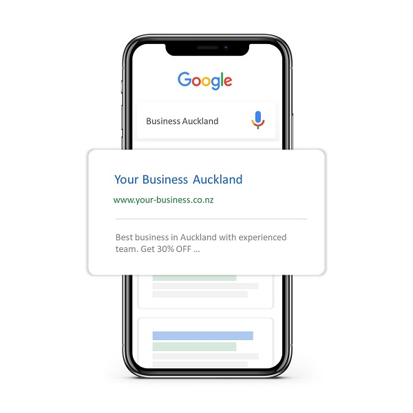 Mobile showing SEO Auckland