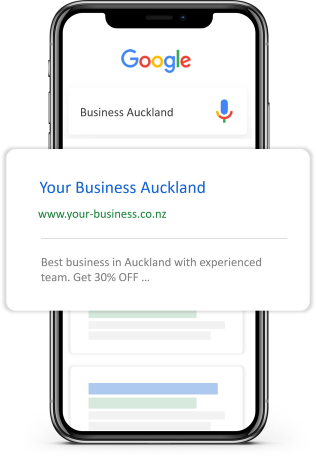 SEO Auckland displayed on mobile
